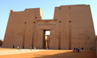 Entrance to the Temple of Edfu, Egypt