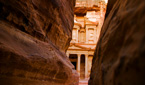 The Treasury through the Siq, Petra, Jordan