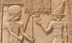 Hieroglyphs in Luxor, Egypt