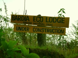 Bardia eco lodge sign, Nepal