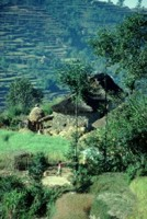 Typical Nepali farming village, Nepal