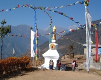Stupa on the trail in Langtang, Nepal