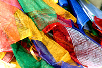 Nepalese prayer flags, Everest region, Nepal