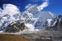 Veiw of Everest and Lhotse from Kala Pattar, Everest region, Nepal