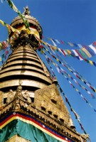 Swayambunath stupa in Kathmandu, Nepal