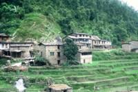 Typical Nepali mountain village, Nepal