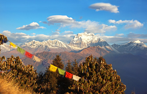 View of the Annapurnas, Nepal