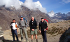 Trekkers on the way up to Everest Base Camp, Nepal