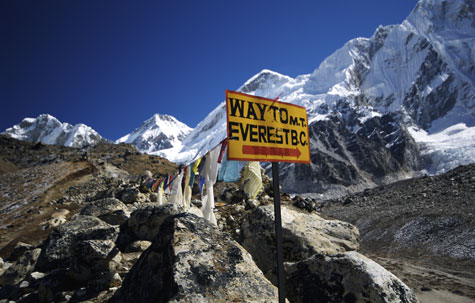 Sign to Everest Base Camp, Nepal