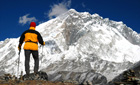Trekker in the Everest region, Nepal