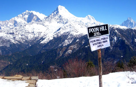View from Poon Hill, Annapurna region, Nepal