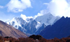 View of the Langtang region, Nepal