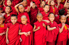 Young Buddhist monks in Tibet