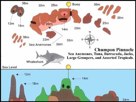 Map of chumphon pinnacle