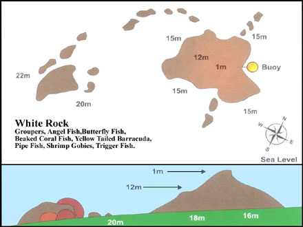 Map of white rock