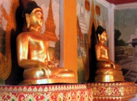 Buddhas at Wat Phra That Doi Suthep, Chiang Mai, Thailand