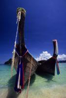 Longtails on a Thai Beach, Thailand