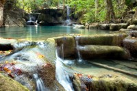 Waterfalls at Erawan National Park, Thailand