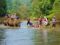 Elephant ride and bamboo raft, Chiang Mai, Thailand