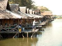 Fishing huts at Bung Sam Lan, Thailand