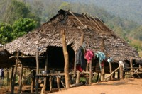 Remote hill tribe village, Northern Thailand