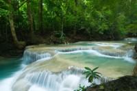 Beautiful waterfalls at Erawan National Park, Thailand