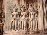 Carving at Angkor Wat, Cambodia