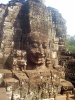 Bayon statues, Angkor, Cambodia