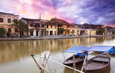 View on the old town of Hoi An, Vietnam