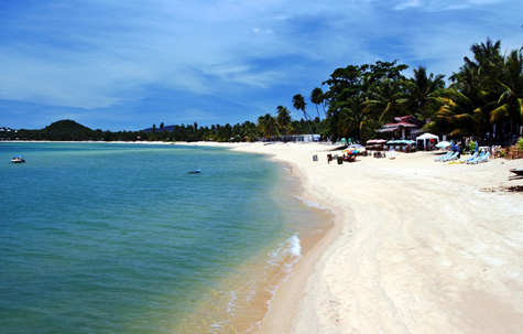 Beautiful sandy beach, Ko Samui, Thailand