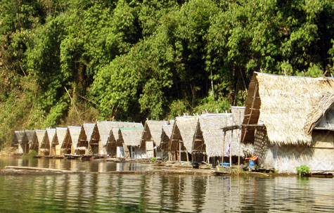 Floating rafthouses, Khao Sok National Park, Thailand