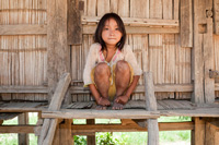 Akha girl, Laos