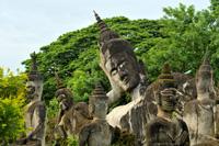 Buddha statues, Vientianne, Laos