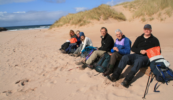 North-West Frontiers Enjoying a lunch at Sandwood