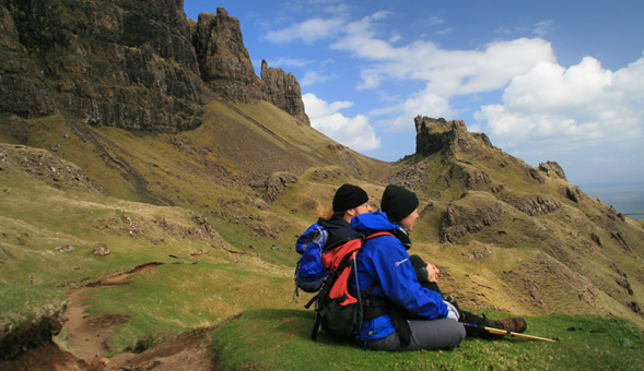 North-West Frontiers Enjoying the view - The Quirang Skye