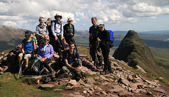 North-West Frontiers Rest stop on the summit of Suilven