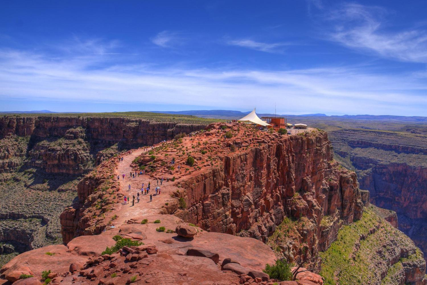 Grand Canyon West By Luxury Limo Van W Skywalk