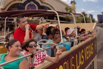 Las Vegas Strip Double Decker Bus Hop-On, Hop-Off Day Tour