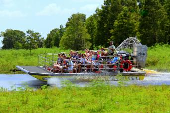 Ultimate Airboat Ride at Wild Florida with Transportation