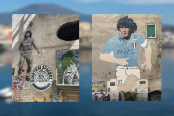 Sigue a tu guía en el tour de Nápoles y su ídolo, Diego Armando Maradona