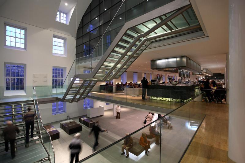 Wander through a range of impressive spaces and galleries