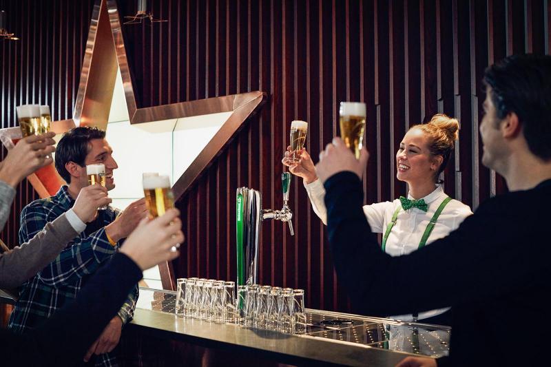 Beer tasting at Heineken Experience