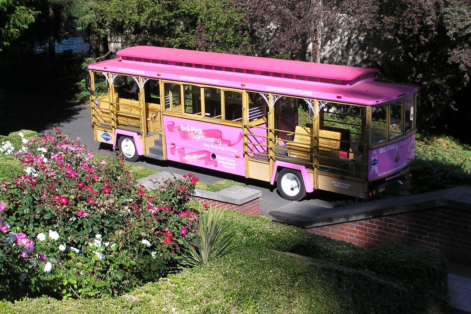 Hop-On Hop-Off Pink Trolley Tour -Two Day Pass