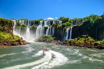 Boat Ride Under the Falls and Iguazu Falls Tour