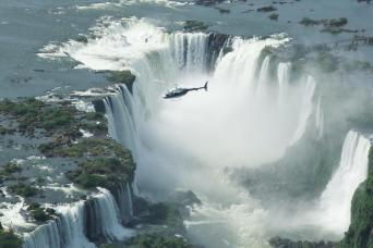 Panoramic Helicopter Flight In Iguassu Falls National Park