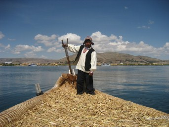 Peruvian local, Lake Titicaca