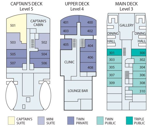 Polar Pioneer Deck Plan