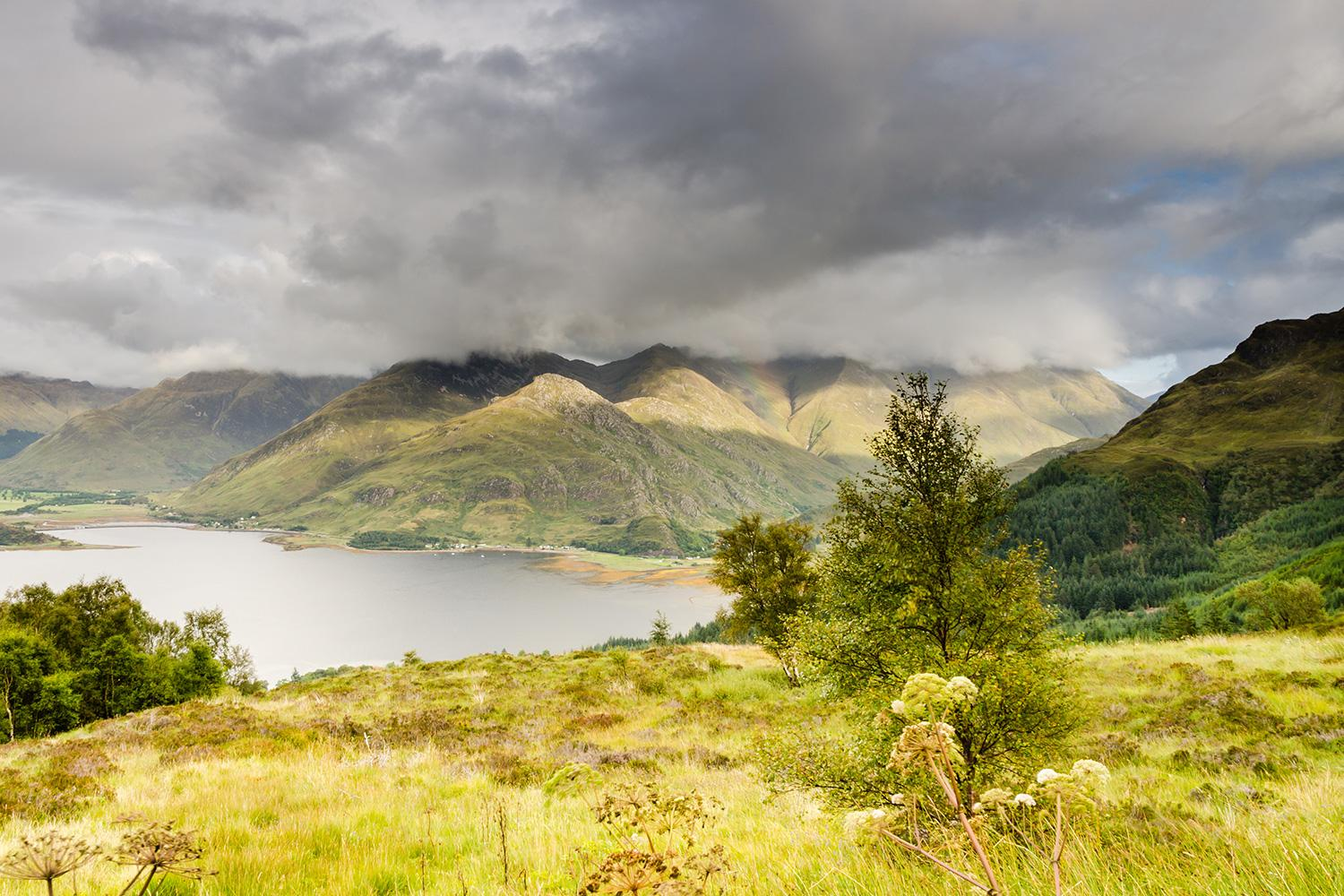 View towards the Five Sisters of Kintail