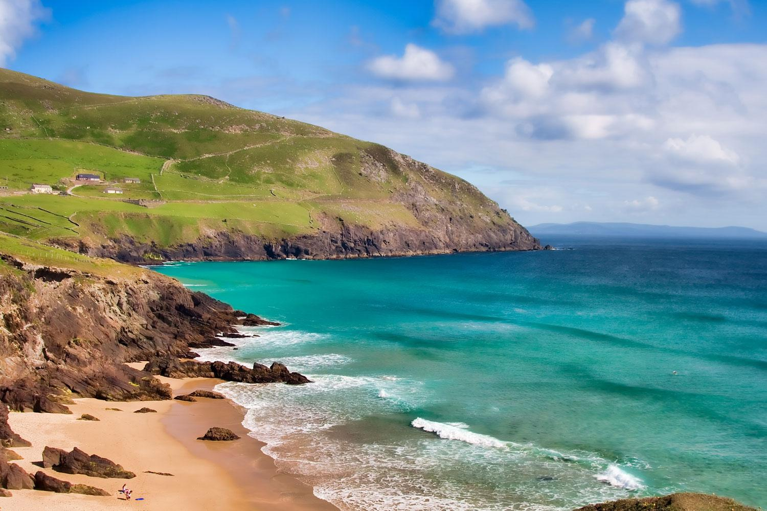 Pristine beach at Dunquin Bay