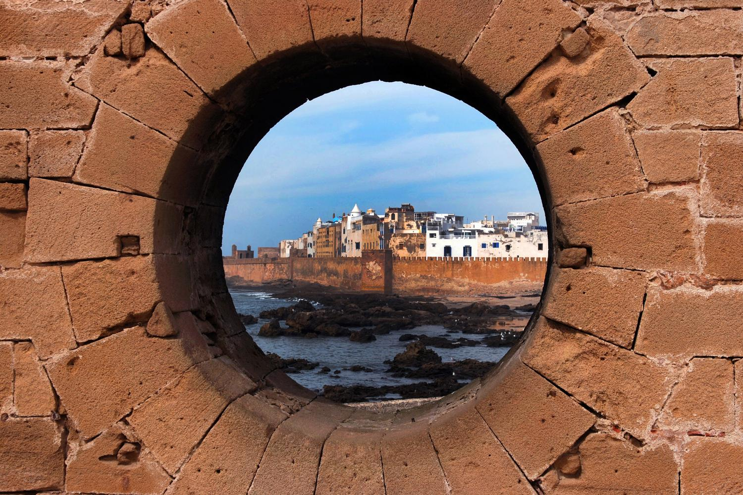 View through the looking hole of Essaouira